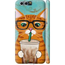 Чехол на Huawei Honor 9 Зеленоглазый кот в очках (4054c-998)