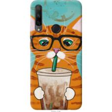 Чехол на Huawei Honor 9X Зеленоглазый кот в очках (4054u-1746)