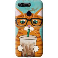 Чехол на Huawei Honor View 20 Зеленоглазый кот в очках (4054u-1645)