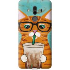 Чехол на Huawei Mate 10 Pro Зеленоглазый кот в очках (4054u-1138)