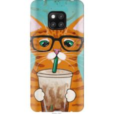 Чехол на Huawei Mate 20 Pro Зеленоглазый кот в очках (4054u-1567)