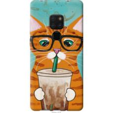 Чехол на Huawei Mate 20 Зеленоглазый кот в очках (4054u-1578)
