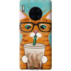 Чехол на Huawei Mate 30 Pro Зеленоглазый кот в очках (4054u-1796)