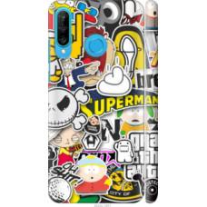 Чехол на Huawei P30 Lite Popular logos (4023c-1651)