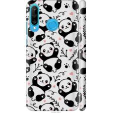 Чехол на Huawei P30 Lite Панды (4318c-1651)