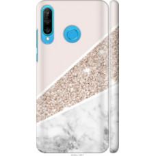 Чехол на Huawei P30 Lite Пастельный мрамор (4342c-1651)