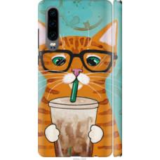 Чехол на Huawei P30 Зеленоглазый кот в очках (4054c-1622)