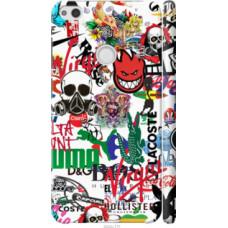 Чехол на Huawei P8 Lite (2017) Many different logos (4022c-777)