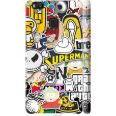 Чехол на Huawei P9 Lite Popular logos (4023c-298)