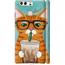 Чехол на Huawei P9 Зеленоглазый кот в очках (4054c-347)