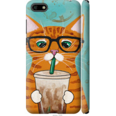 Чехол на Huawei Y5 2018 Зеленоглазый кот в очках (4054c-1500)