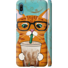 Чехол на Huawei Y6 2019 Зеленоглазый кот в очках (4054c-1666)