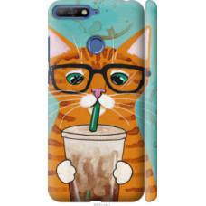 Чехол на Huawei Honor 7C Зеленоглазый кот в очках (4054c-1411)