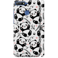 Чехол на Huawei Honor 7C Панды (4318c-1411)