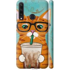 Чехол на Huawei Y6p Зеленоглазый кот в очках (4054c-1952)