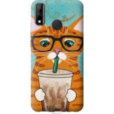 Чехол на Huawei Y8s Зеленоглазый кот в очках (4054u-2027)
