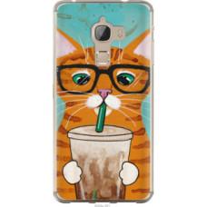 Чехол на LeTV Max X900 Зеленоглазый кот в очках (4054u-381)