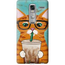 Чехол на LG Zero Зеленоглазый кот в очках (4054u-476)