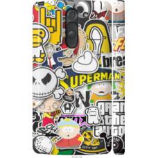 Чехол на LG G3 Stylus D690 Popular logos (4023c-89)