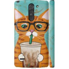 Чехол на LG G3 Stylus D690 Зеленоглазый кот в очках (4054c-89)