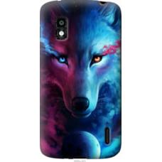 Чехол на LG Nexus 4 E960 Арт-волк (3999u-203)