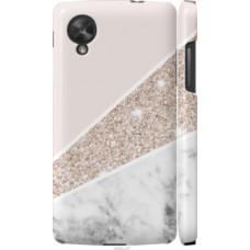 Чехол на LG Nexus 5 Пастельный мрамор (4342c-57)