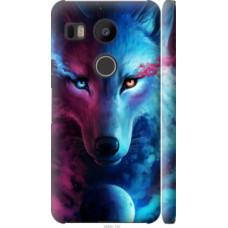 Чехол на LG Nexus 5X H791 Арт-волк (3999c-150)