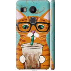 Чехол на LG Nexus 5X H791 Зеленоглазый кот в очках (4054c-150)
