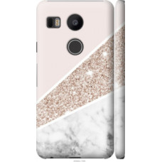 Чехол на LG Nexus 5X H791 Пастельный мрамор (4342c-150)