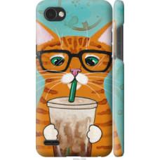 Чехол на LG Q6 Зеленоглазый кот в очках (4054c-1094)