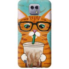 Чехол на LG X Cam K580 Зеленоглазый кот в очках (4054u-1028)