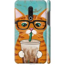 Чехол на Meizu 15 Plus Зеленоглазый кот в очках (4054c-1473)