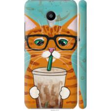 Чехол на Meizu M3 Зеленоглазый кот в очках (4054c-272)