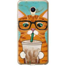 Чехол на Meizu M5s Зеленоглазый кот в очках (4054u-776)