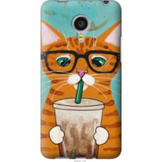 Чехол на Meizu MX4 PRO Зеленоглазый кот в очках (4054u-132)