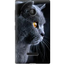 Чехол на Microsoft Lumia 532 Dual Sim Красивый кот (3038u-151)