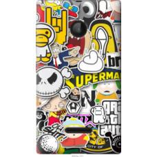 Чехол на Microsoft Lumia 532 Dual Sim Popular logos (4023u-151)