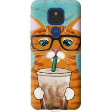 Чехол на Motorola E7 Plus Зеленоглазый кот в очках (4054u-2107)