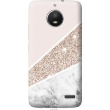 Чехол на Motorola Moto E4 Пастельный мрамор (4342u-981)