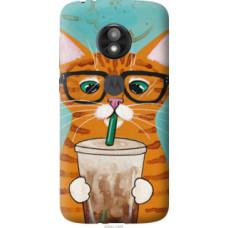 Чехол на Motorola Moto E5 Play Зеленоглазый кот в очках (4054u-1429)