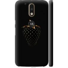 Чехол на Motorola MOTO G4 PLUS Черная клубника (3585c-953)