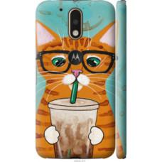 Чехол на Motorola MOTO G4 PLUS Зеленоглазый кот в очках (4054c-953)