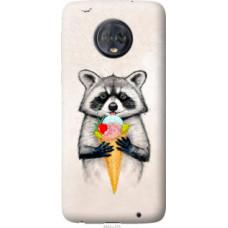 Чехол на Motorola Moto G6 Plus Енотик с мороженым (4602u-976)