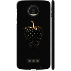 Чехол на Motorola MOTO Z Черная клубника (3585c-419)