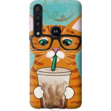 Чехол на Motorola One Macro Зеленоглазый кот в очках (4054u-1812)