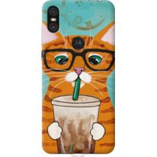 Чехол на Motorola One Зеленоглазый кот в очках (4054u-1589)