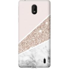Чехол на Nokia 1 Plus Пастельный мрамор (4342u-1677)