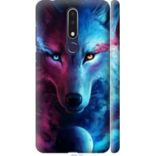Чехол на Nokia 3.1 Plus Арт-волк (3999c-1607)