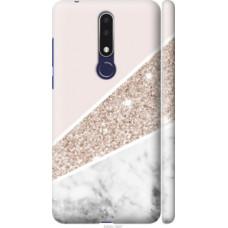 Чехол на Nokia 3.1 Plus Пастельный мрамор (4342c-1607)