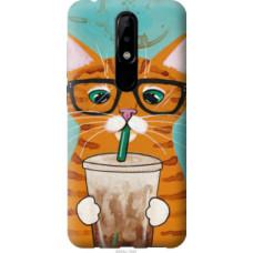Чехол на Nokia 5.1 Plus Зеленоглазый кот в очках (4054u-1543)